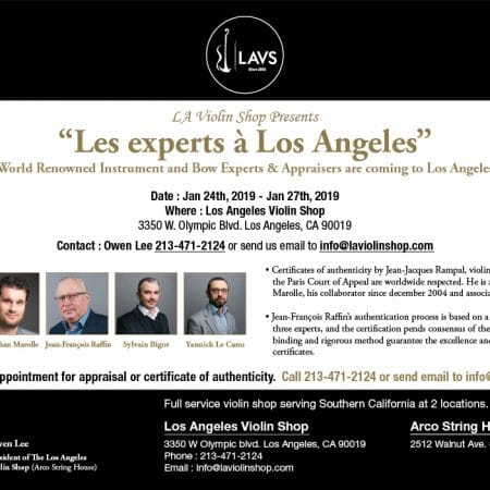 LAVS will be hosting an expert session Jan 24 – 27, 2019