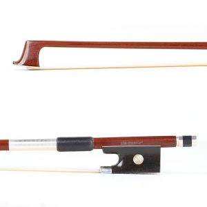 A Basso One Star Nickel Mounted Violin Bow
