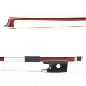 A Basso Three Star Silver Mounted Violin Bow