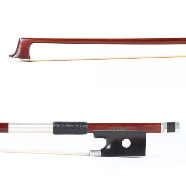 A Basso Three Star Silver Mounted Violin Bow