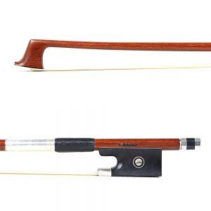 A Basso Violin Bow Nickel Mounted Violin Bow