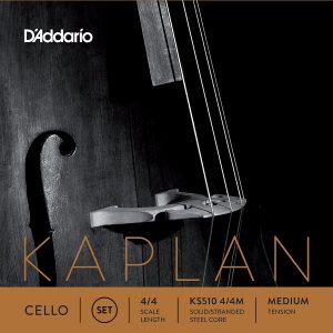 D'Addario Kaplan Cello String Set, Medium Tension (4/4)