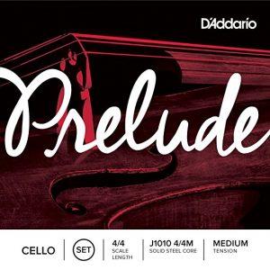 D'Addario Prelude Cello String Set, Medium Tension (4/4)