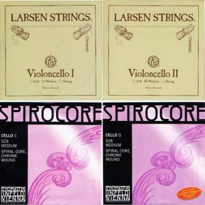 Cello String Set Larsen A+D, Spirocore Tungsten G+C (4/4)